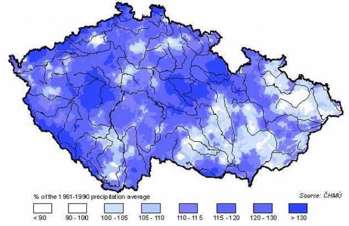 eső térkép Cseh köztársaság eső térkép   Csehország eső térkép (Kelet   Európa) eső térkép