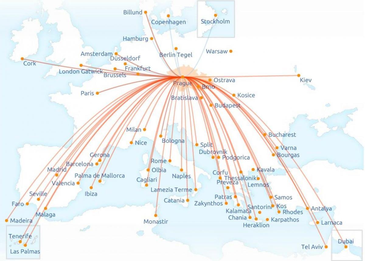 utvonal térkép Cseh légitársaság útvonal térkép   Térkép cseh légitársaság az  utvonal térkép